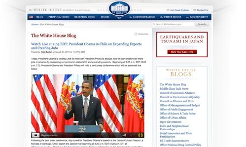 Transmisión de la visita de Barack Obama en Chile